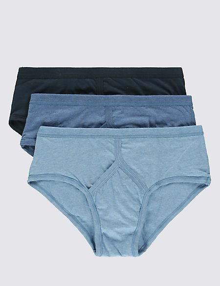 3 Pack Pure Cotton Classic Briefs with StayNEW™