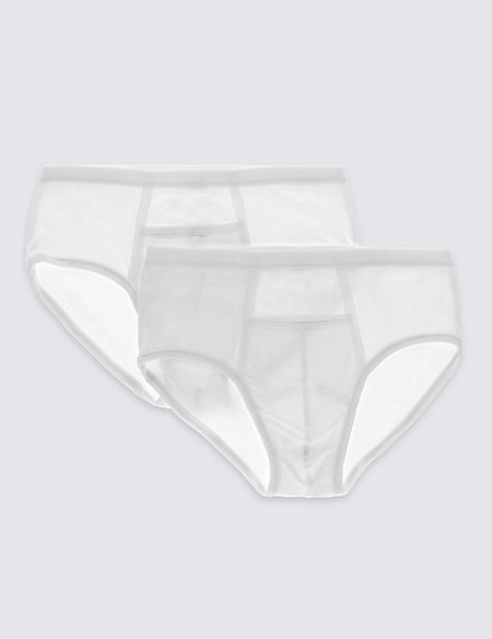 2 Pack Pure Cotton H-Fly Briefs with StayNEW™