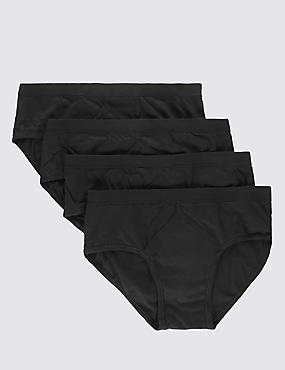 4 Pack Pure Cotton Briefs with StayNEW™