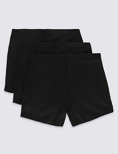 3 Pack Pure Cotton Trunks with StayNEW™