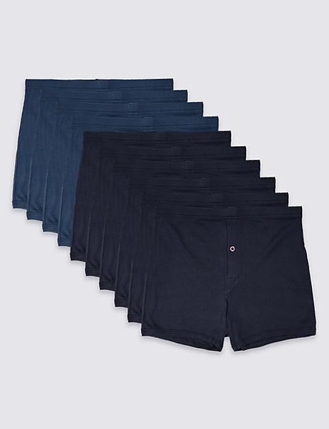 10 Pack Pure Cotton Trunks with StayNEW™