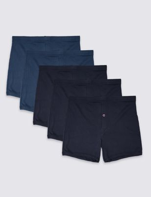 de9c5967d7 5 Pack Pure Cotton Trunks with StayNEW™ £10.00