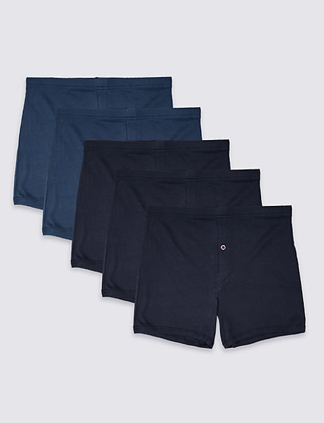 5 Pack Pure Cotton Trunks with StayNEW™