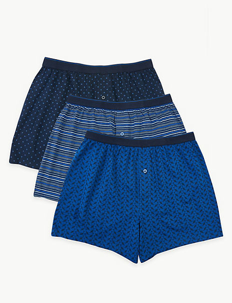 3 Pack Cotton Printed Cool & Fresh™ Boxers