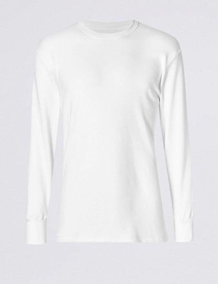Long Sleeve Cotton Blend Thermal Vest