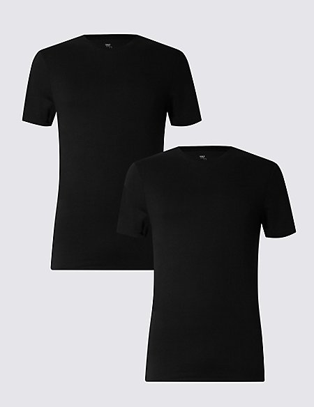 2 Pack Heatgen™ Thermal Short Sleeve Vests