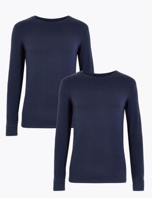 2pk Light Warmth Long Sleeve Thermal Tops