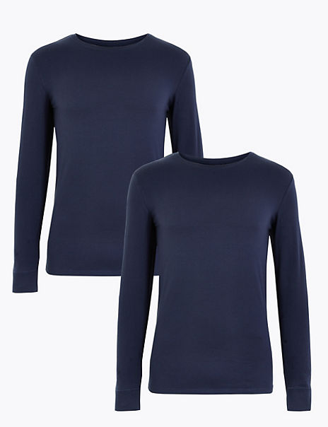 2 Pack Cotton Long Sleeve Thermal Tops