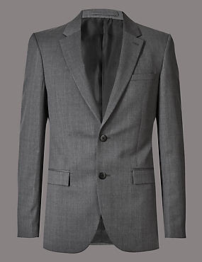 Grey Tailored Fit Italian Wool Suit