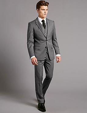 Grey Slim Fit Italian Wool Suit