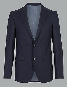 Navy Tailored Fit Italian Wool Suit