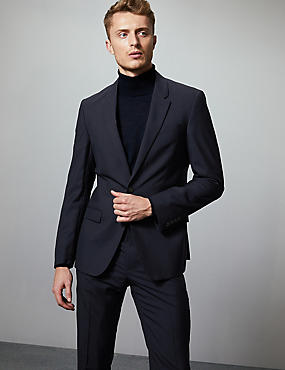 Navy Slim Fit Italian Wool Suit