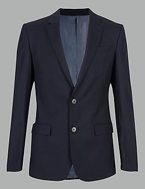 Navy Slim Fit Italian Wool Suit