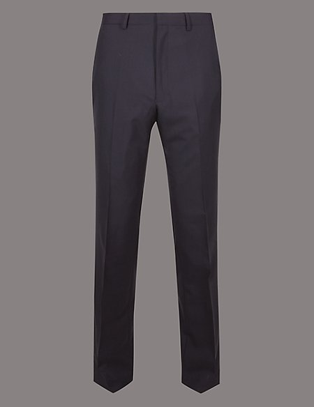 Big & Tall Dark Navy Tailored Fit Italian Wool Trousers