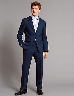 Tailored Fit Wool Rich with Stretch Suit
