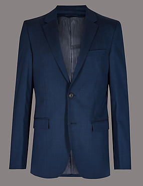 Tailored Fit Wool Rich with Stretch Jacket