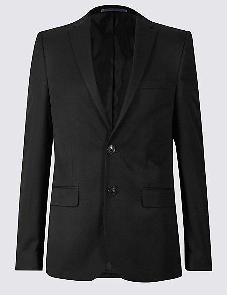 Black Modern Slim Fit Jacket