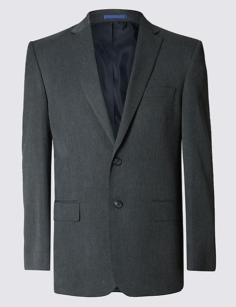 Grey Regular Fit Jacket