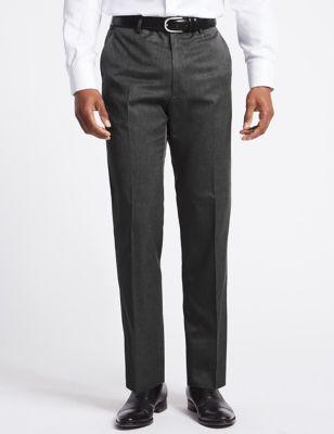 Big & Tall Grey Regular Fit Trousers