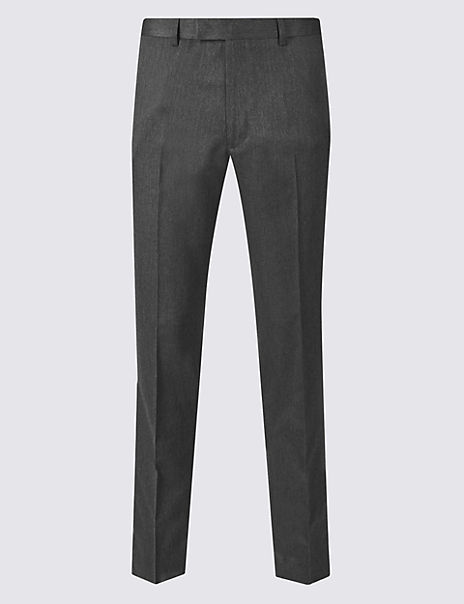 Grey Skinny Fit Trousers