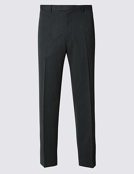Grey Regular Fit Trousers