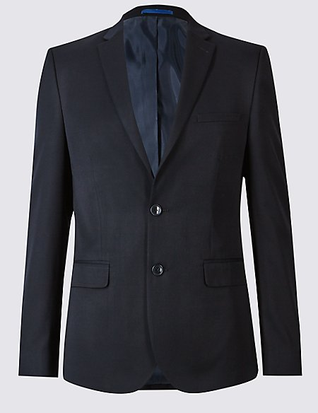 Navy Modern Slim Fit Jacket