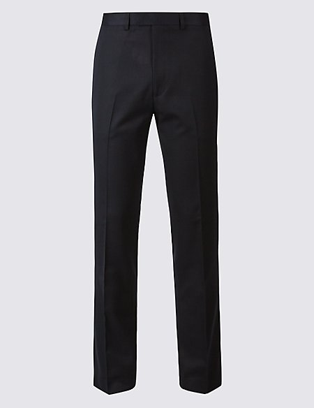 Navy Modern Slim Fit Trousers