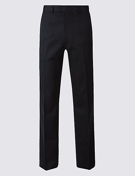 Navy Tailored Fit Trousers