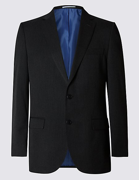 Charcoal Regular Fit Jacket
