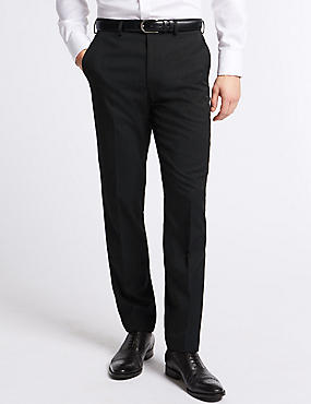 Big & Tall Charcoal Slim Fit Trousers