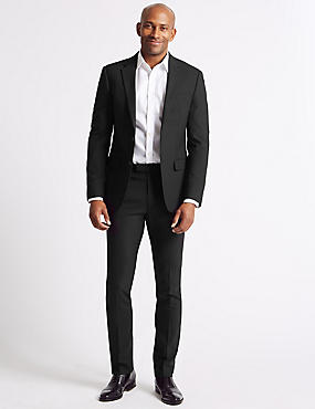 Big & Tall Black Slim Fit Suit