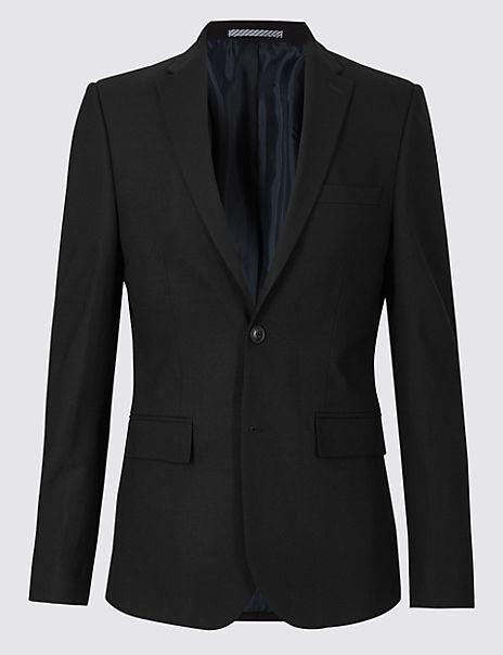 Big & Tall Black Slim Fit Jacket