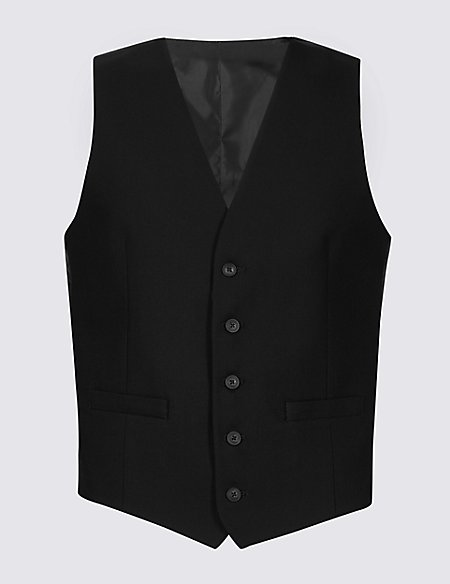 Black Slim Fit Waistcoat