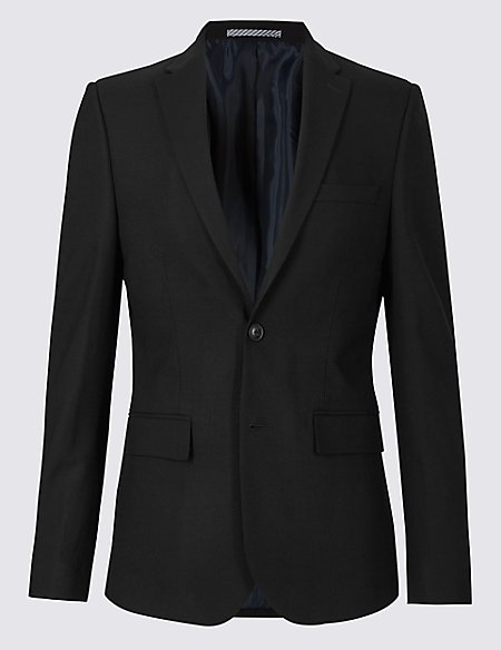 Black Modern Slim Fit Jacket