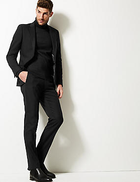 Big & Tall Black Slim Fit Trousers