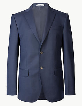 Indigo Textured Regular Fit Suit