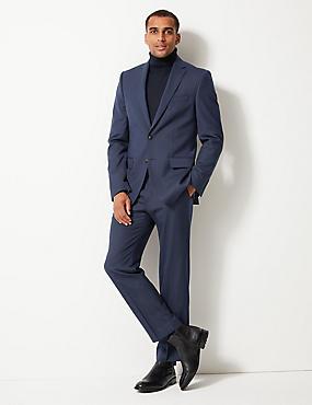 Indigo Textured Regular Fit Trousers