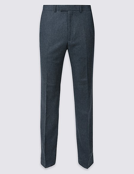 Wool Blend Trousers with Italian Fabric