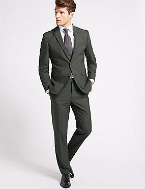 Charcoal Textured Slim Fit 3 Piece Suit