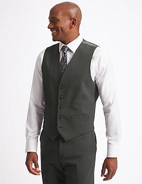 Charcoal Textured Regular Fit Waistcoat