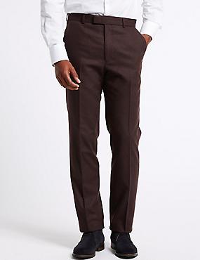 Vínové kalhoty mírně zúženého střihu se vzorem ... 5947b21ca4