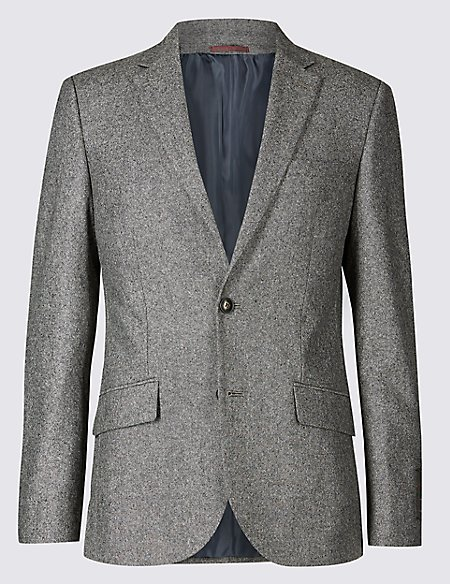 Big & Tall Textured Slim Fit Jacket