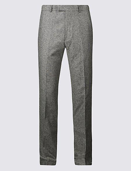 Big & Tall Textured Slim Fit Trousers