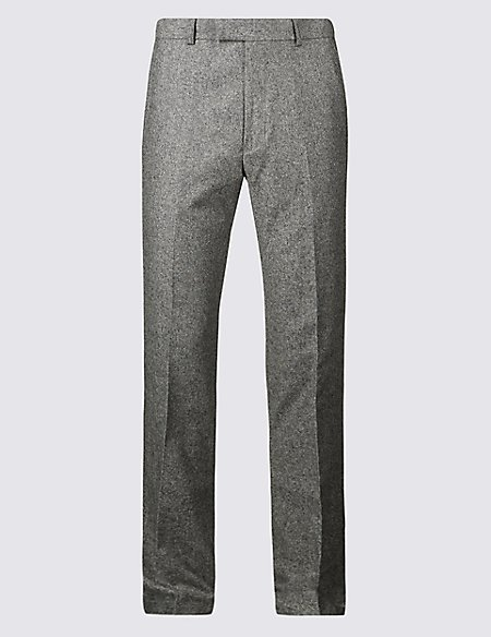Big & Tall Textured Regular Fit Trousers