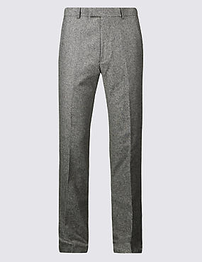 Textured Regular Fit Trousers