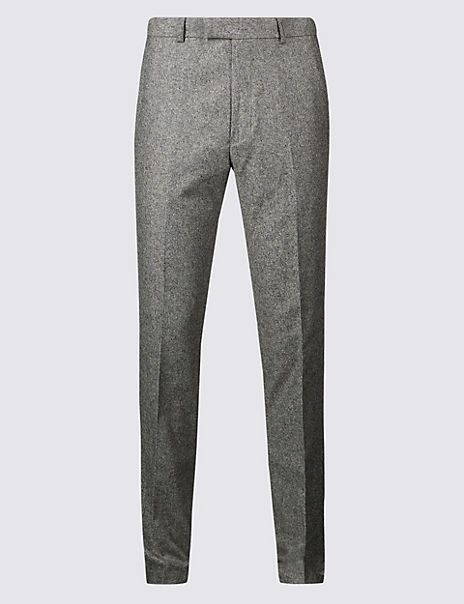 Textured Tailored Fit Trousers