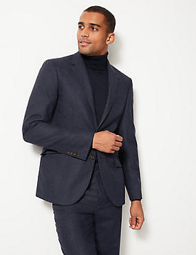 Indigo Textured Tailored Fit Suit