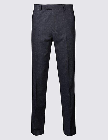 Indigo Textured Slim Fit Trousers