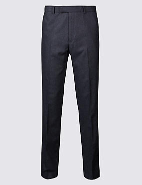 Indigo Textured Slim Fit Trousers