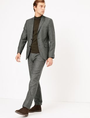 Tailored Fit Italian Wool Blend Jacket